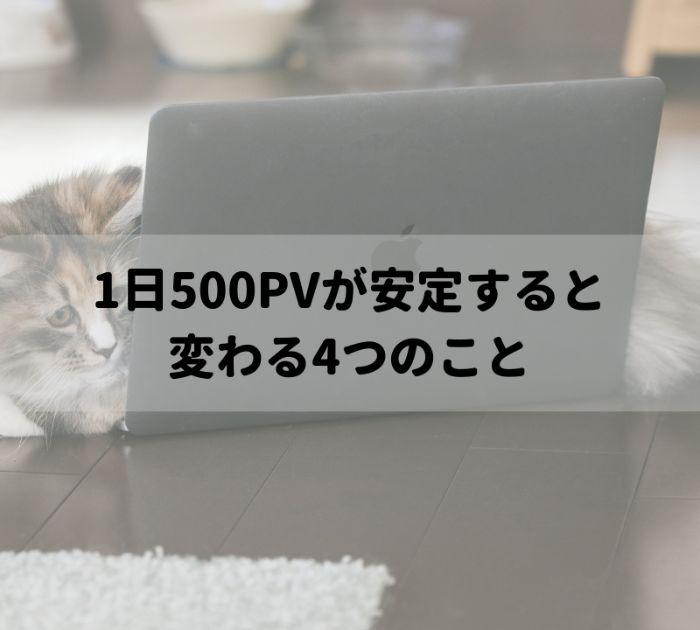 1日500PV
