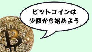 ビットコイン 少額投資